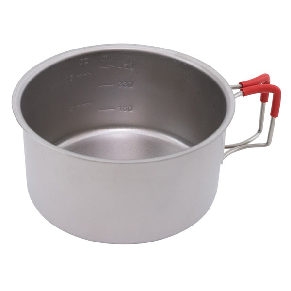Evernew Titanium Cup 570 (Red Handle)