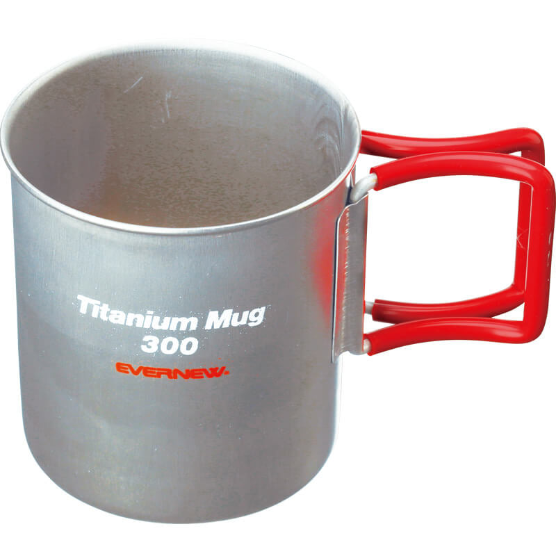 Evernew Titanium Mug 300 (Red Handle)