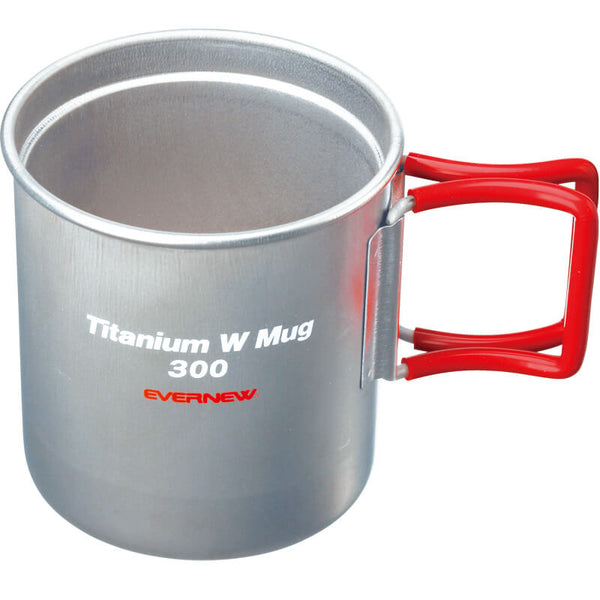 Evernew Titanium Mug Double Wall 300 (Red Handle)