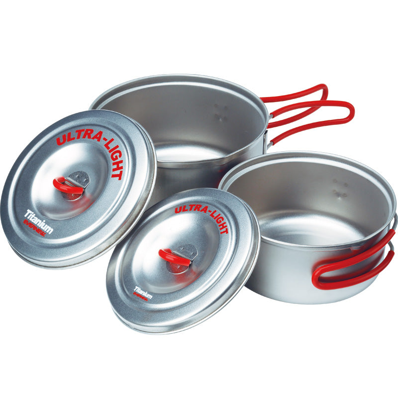 Evernew Titanium Ultralight Pot Set SM (600ml and 900ml)