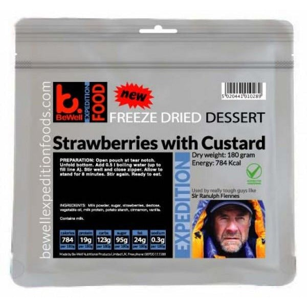 BeWell Expedition Food Strawberries with Custard