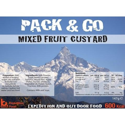 Pack & Go Mixed Fruit Custard