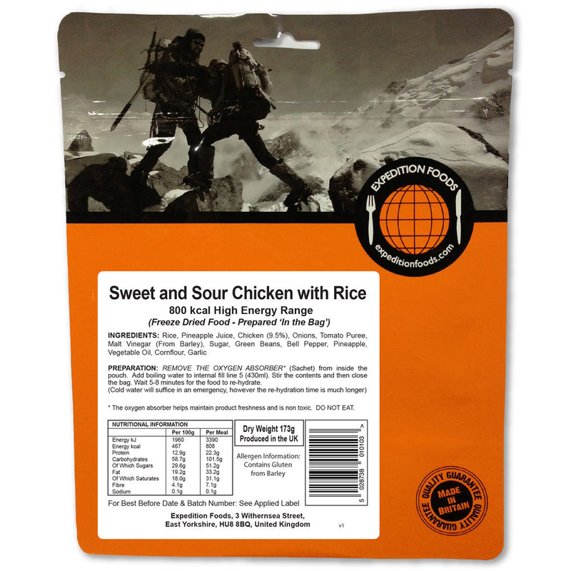 Expedition Foods Sweet and Sour Chicken with Rice (High Energy)