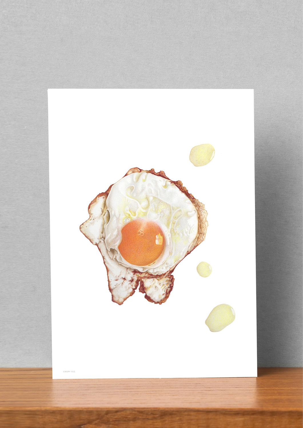 Crispy Egg Large Art Card