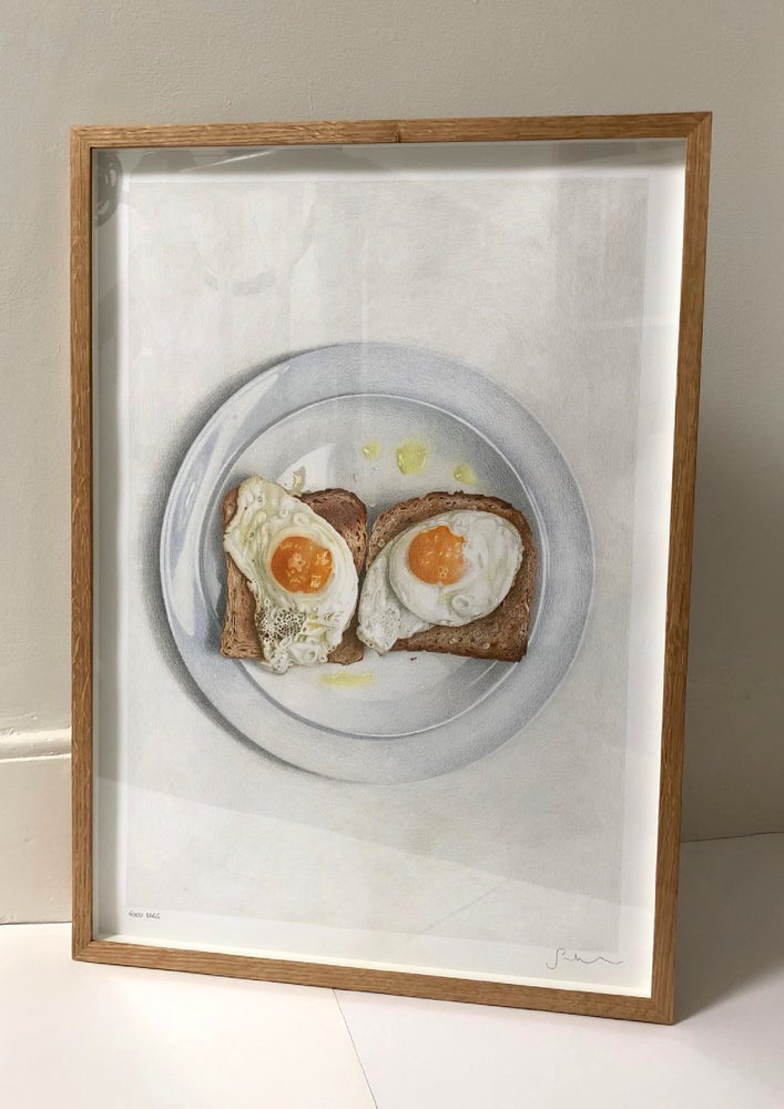 Good Eggs Framed Original Hand Drawing