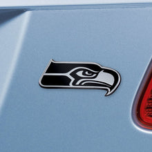 Load image into Gallery viewer, Seattle Seahawks NFL Chrome Auto Emblem ~ 3-D Metal