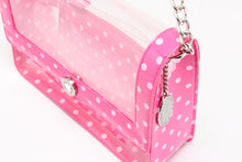 Load image into Gallery viewer, SCORE! Chrissy Medium Designer Clear Cross-body Bag -Fandango Pink and Light Pink
