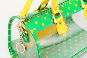 SCORE! Moniqua Large Designer Clear Crossbody Satchel - Fern Green and  Yellow Gold