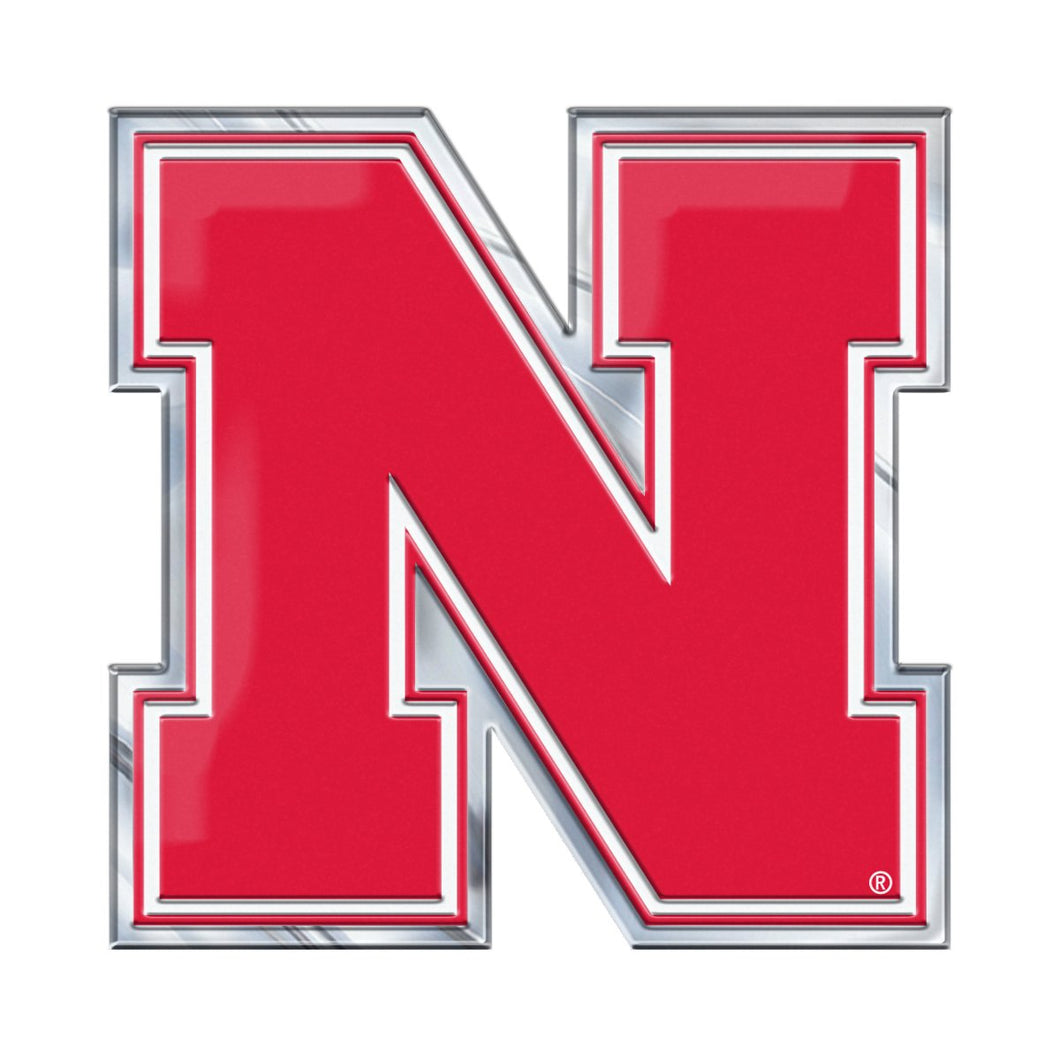 University of Nebraska Cornhuskers Embossed Color Emblem