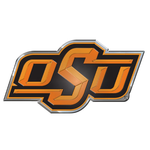 Oklahoma State University Embossed Color Emblem