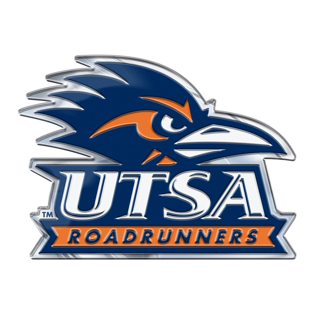 University of Texas at San Antonio UTSA Roadrunners Embossed Color Emblem