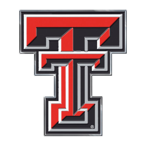 Texas Tech University Embossed Color Emblem