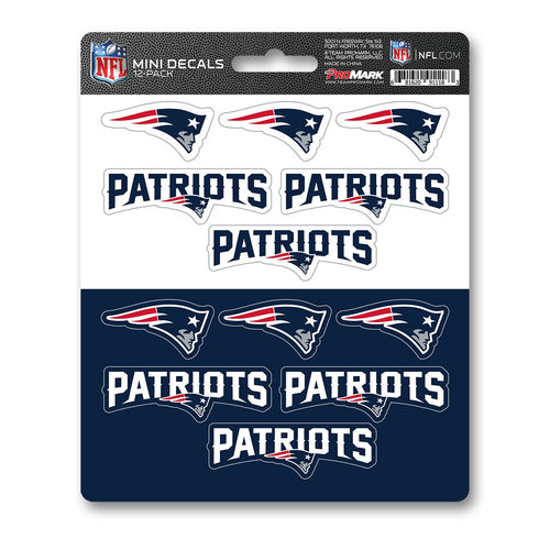 New England Patriots Mini Decal 12-pk