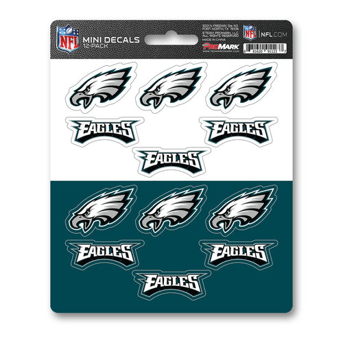 Philadelphia Eagles Mini Decal 12-pk