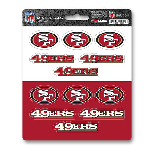 San Francisco 49ers Mini Decal 12-pk