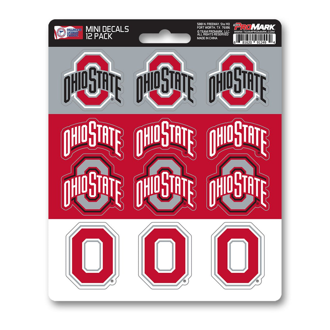 Ohio State Buckeyes Mini Decal 12-pk