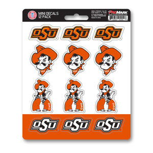 Oklahoma State University Cowboys Mini Decal 12-pk