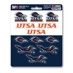 UTSA Roadrunners Mini Decal 12-pk