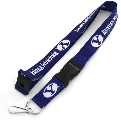 Brigham Young University BYU Cougar BLUE Officially NCAA Licensed Logo Team Lanyard