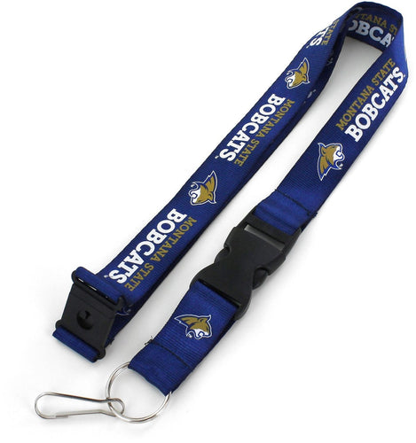 MONTANA STATE Bobcats Officially NCAA Licensed Logo Blue Team Lanyard