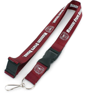 MISSOURI STATE Bears and Lady Bears Official NCAA Licensed Maroon Logo Team Lanyard