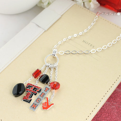 Texas Tech Cluster Necklace