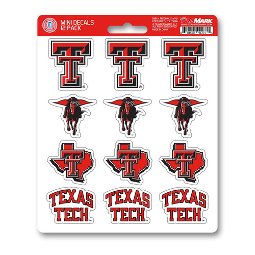Texas Tech Red Raiders 12pk Mini Decal Team ProMark