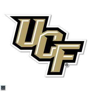 "University of Central Florida Knights NCAA Collegiate Logo Super Durable Purse Sticker~ ""UCF"" Logo Black and Gold"