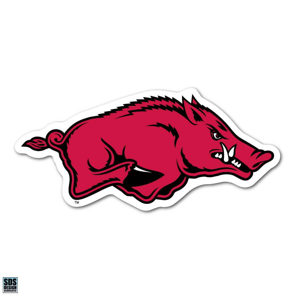 University of Arkansas Fayetteville NCAA Collegiate Logo Super Durable Purse Sticker~ Razorback Cardinal Red and White