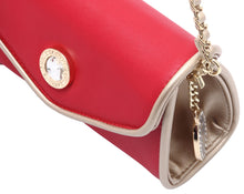 Load image into Gallery viewer, SCORE! Eva Designer Crossbody Clutch - Red and Gold