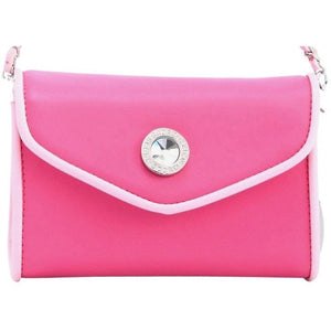 SCORE! Eva Designer Crossbody Clutch - Hot Pink and Light Pink