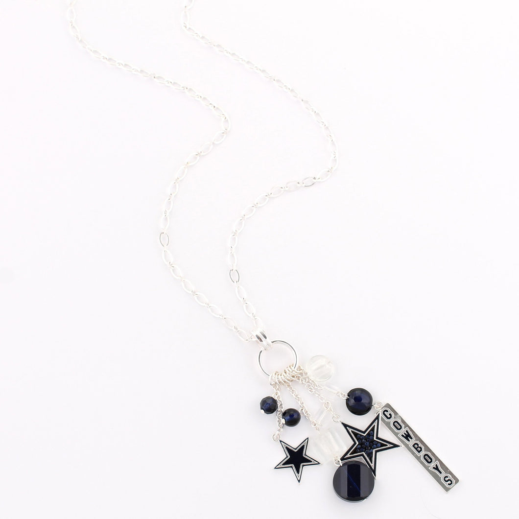 Dallas Cowboys Cluster Necklace