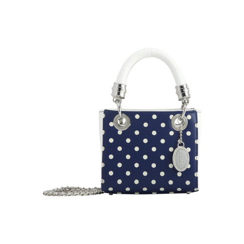SCORE! Game Day Bag Purse Jacqui Classic Top Handle Crossbody Satchel - Navy Blue and White Mount St. Mary's Mountaineers, Georgetown Hoyas, Butler Bulldogs, Liberty Flames, Georgia Southern Eagles, Howard Bison, North Florida Ospreys, Monmouth Hawks, BYU Cougars, Jackson State Tigers, Longwood Lancers, Nevada Wolfpack, Drake Bulldogs, UNC Greensboro Spartans, NFL Dallas Cowboys, NHL Blue Jackets, MLS LA Galaxy, MLB San Diego Padres, 
