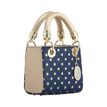 Load image into Gallery viewer, SCORE! Game Day Bag Purse Jacqui Satchel Navy and Gold - George Washington Colonials, UC Davis Aggies, Charleston Southern Buccaneers, Montana State Bobcats, Akron Zips, MLB 