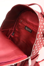 Load image into Gallery viewer, SCORE! Natalie Michelle Large Polka Dot Designer Backpack - Maroon and White