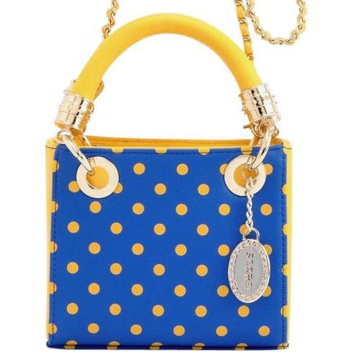 SCORE! Game Day Bag purse Jacqui Classic Top Handle Crossbody Satchel - Royal Blue and Yellow Gold University of Nebraska Kearney, Ithaca College, Delaware Fighting Blue Hens, Morehead State Eagles, Kansas City Roos, South Dakota State Jackrabbits, San Jose State Spartans, Kent State Golden Flashes, McNeese State Cowboys, Houston Baptist Huskies, Southern Jaguars, UCLA Bruins, Delaware Fighting Blue Hens, Golden State Warriors, Denver Nuggets, Milwaukee Brewers, St. Louis Blues purse