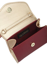 Load image into Gallery viewer, SCORE! Eva Designer Crossbody Clutch - Maroon and Gold