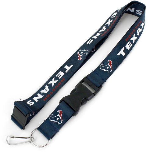 Houston Texans Officially NFL Licensed Blue, White and Red Logo Team Lanyard
