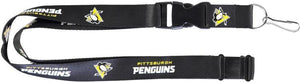 Pittsburgh Penguins Officially NHL Licensed Black and Gold Logo Team Lanyard