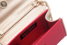 Load image into Gallery viewer, SCORE! Eva Designer Crossbody Clutch - Red and White