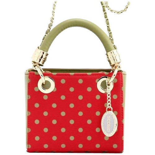 SCORE! Game Day Bag purse Jacqui Classic Top Handle Crossbody Satchel - Red and Olive Green Washington State University Cougars, Alpha Chi Omega, Alpha Sigma Alpha Sorority purse