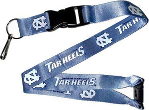 North Carolina Tar Heels Officially Licensed Blue and White NCAA Logo Team Lanyard