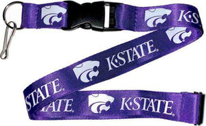KANSAS STATE Wildcats KSU Purple and White Officially Licensed NCAA Logo Team Lanyard