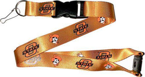 OKLAHOMA STATE University OSU Orange and Black Officially NCAA Licensed Logo Team Lanyard