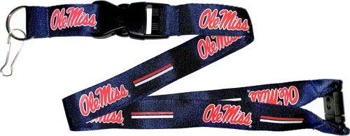 OLE MISS Rebels Red and Blue Officially NCAA Licensed Logo Team Lanyard