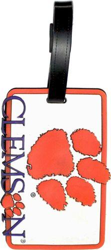 CLEMSON University NCAA Licensed SOFT Luggage BAG TAG~ Orange, White and Purple