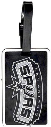 San Antonio SPURS NBA Licensed SOFT Luggage BAG TAG~ Black and Silver