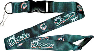 Miami Dolphins Officially Licensed Teal NFL Logo Team Lanyard