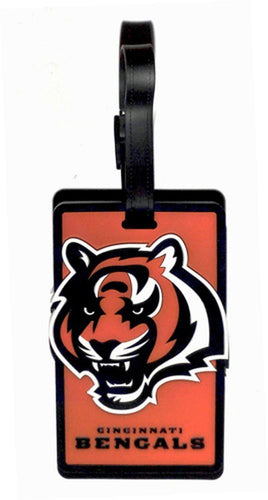 This NFL Licensed Soft Bag Tag is colorful, durable, and flexible.  Write identification information directly onto the interior card.   Tag size: L 4.3