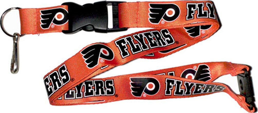 Philadelphia Flyers Officially NHL Licensed Logo Orange and Black Team Lanyard